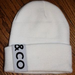 Untitled and Co. White Beanie with Logo